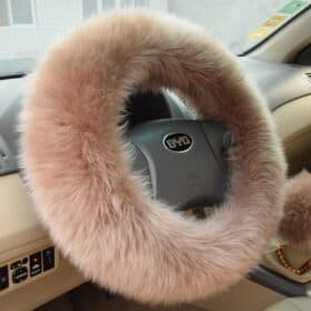 Extra Fluffy Steering Wheel Cover