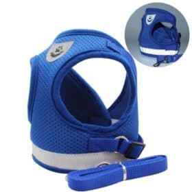 blue cat breathable harness by fur best