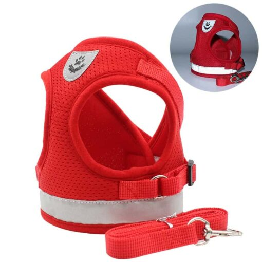 red cat breathable harness by fur best