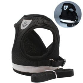 black cat breathable harness by fur best