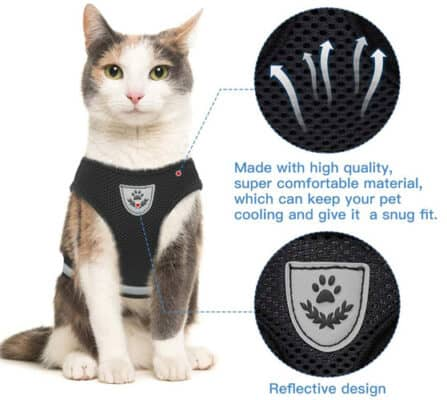 cat breathable harness by fur best