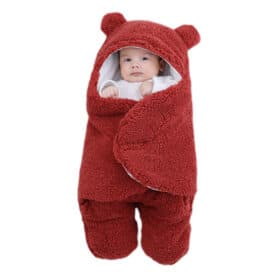 red swaddle blanket
